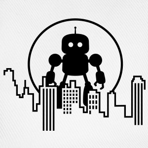 Robot City Skyline T-shirts - Basebollkeps