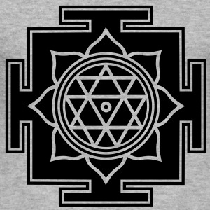 Yantra Tanka Tibet Ornament OM   - Männer Slim Fit T-Shirt