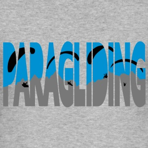 Paragliding Letters Sweaters - slim fit T-shirt