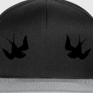 Tattoo Swallows Design Oldschool Birds Freedom Sweats - Casquette snapback