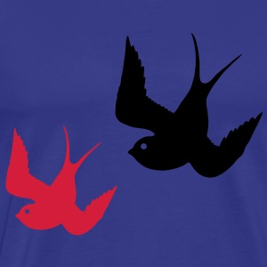 Tattoo Swallows Design Oldschool Birds Freedom Sweatshirts - Herre premium T-shirt