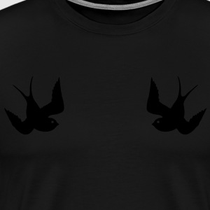 Tattoo Swallows Design Oldschool Birds Freedom Gensere - Premium T-skjorte for menn