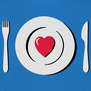 heart love eating g1  Aprons - Men's T-Shirt