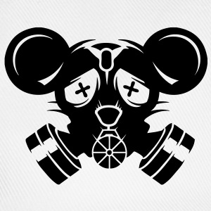 A gas mask with big mouse ears T-Shirts - Baseball Cap