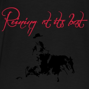 Reining at its best Sliding Stop Horse Silhouette  Pullover & Hoodies - Männer Premium T-Shirt