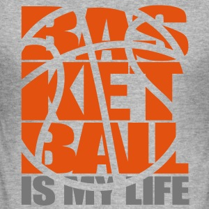 Basketball is my Life. Basket Tröjor - Slim Fit T-shirt herr