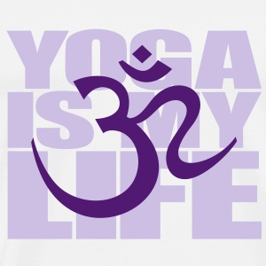 Yoga is my life. OM symbol tecken yoga meditation Tröjor - Premium-T-shirt herr