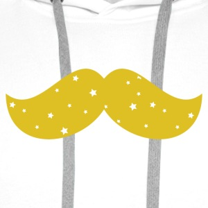 body MC moustache jaune - Sweat-shirt à capuche Premium pour hommes