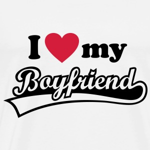 I love my Boyfriend - Valentine's Day  Hoodies & Sweatshirts - Men's Premium T-Shirt
