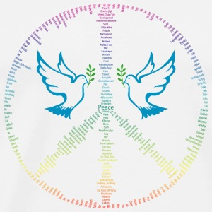 Peace in all languages ​​of the world Other - Men's Premium T-Shirt