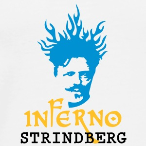 Inferno_Strindberg_on-white_3c Bottles & Mugs - Men's Premium T-Shirt