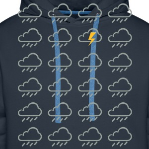 Weather clouds  T-Shirts - Men's Premium Hoodie