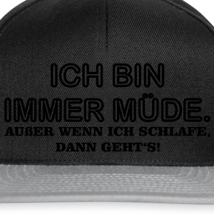 Immer Muede T-Shirts - Snapback Cap