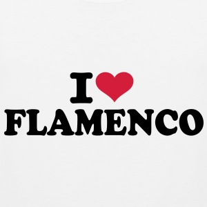 I love Flamenco T-Shirts - Männer Premium Tank Top