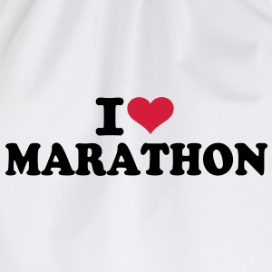 I love Marathon  T-Shirts - Turnbeutel