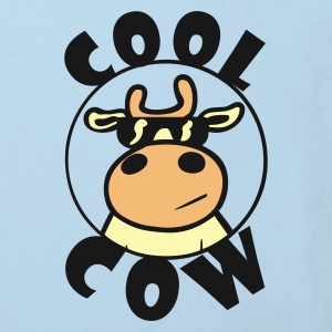 Red Cool Cow Baby Bodysuits - Kids' Organic T-shirt