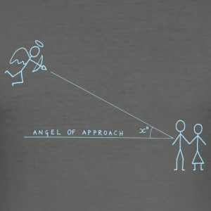 Angle of Approach (Blue) Bags  - Men's Slim Fit T-Shirt