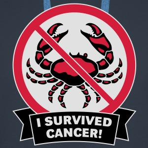 I survived cancer! (3C) T-Shirt - Men's Premium Hoodie