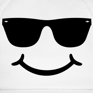 gute Laune Smiley mit Sonnenbrille Glasses funny   T-Shirts - Baseballkappe
