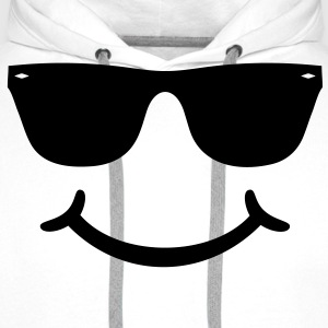 gute Laune Smiley mit Sonnenbrille Glasses funny   T-Shirts - Männer Premium Hoodie