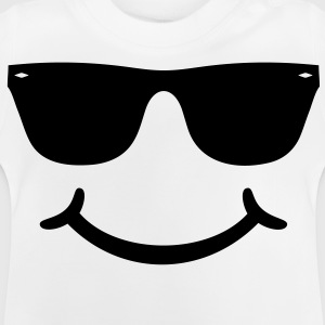 goed humeur grappige Smiley met zonnebril bril Shirts - Baby T-shirt