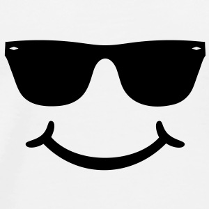 good humor funny Smiley with sunglasses Glasses Caps & Hats - Men's Premium T-Shirt