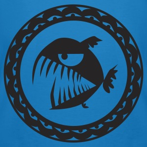 Peacock-blue Evil Pirry Deco Bags  - Men's Organic T-shirt