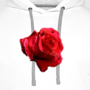 rose-flower painting T-Shirts - Men's Premium Hoodie