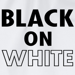 Black On White Langarmshirts - Turnbeutel