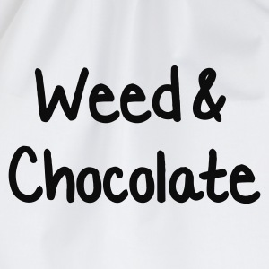 Vit Weed and Chocolate T-shirts - Gymnastikpåse