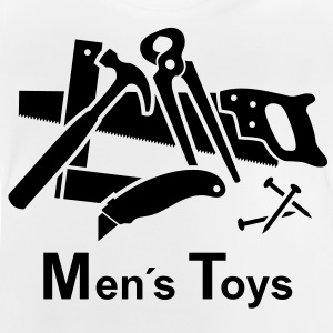 Men's Toys. Toys for men. Tools: hammer saw Shirts - Baby T-Shirt