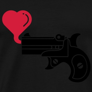 Pistol Blowing Heart Bubbles Hoodies & Sweatshirts - Men's Premium T-Shirt