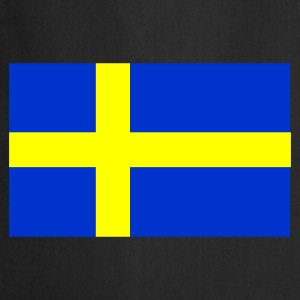 Black Swedish Flag Men's Tees - Cooking Apron