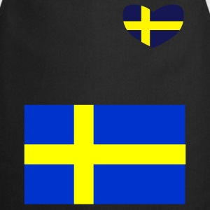 Black Swedish Flag Coats & Jackets - Cooking Apron