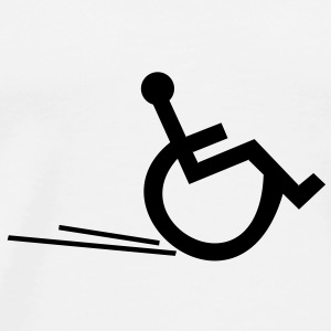 Wheelchair, wheelchair, disabled, disability, - Men's Premium T-Shirt