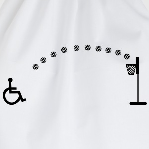 Wheelchair, wheelchair basketball, rollstuhlbask - Drawstring Bag