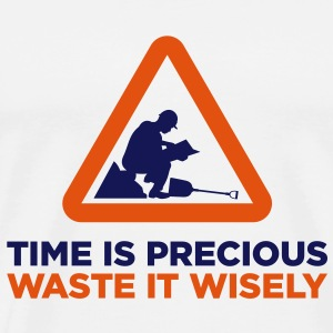 Time Is Precious (2c)++2013 Tassen - Mannen Premium T-shirt