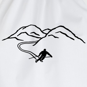 Ski Skiing, mountains,  winter sports mountains Hoodies - Drawstring Bag
