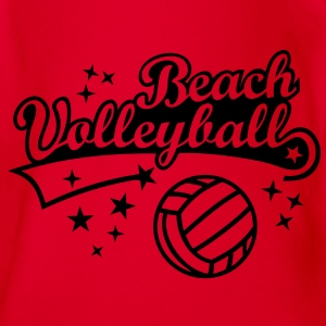 Beach Volleyball - Beach volley - Estate Beach Sun Magliette - Body ecologico per neonato a manica corta
