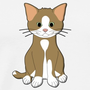 babycat brown and white Hoodies & Sweatshirts - Men's Premium T-Shirt