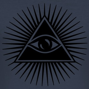 All seeing eye, pyramid, Freemason, God, Horus Gensere - Slim Fit T-skjorte for menn