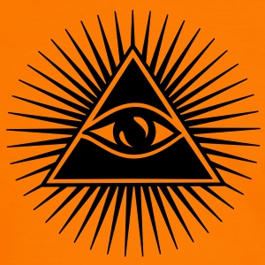 All seeing eye, pyramid, Freemason, God, Horus Sweat-shirts - T-shirt contraste Homme