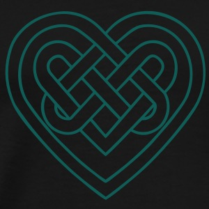 Celtic heart, endless knots, love & loyalty Hoodie - Men's Premium T-Shirt