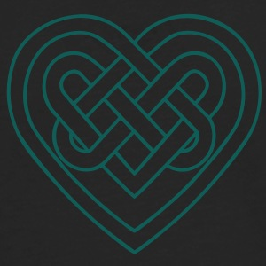 Celtic heart, endless knots, love & loyalty T-shirts - Herre premium T-shirt med lange ærmer