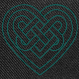 Celtic heart, endless knots, love & loyalty Koszulki - Czapka typu snapback
