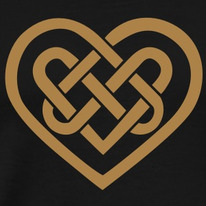 Celtic heart, symbol - infinite love & loyalty Sudadera - Camiseta premium hombre