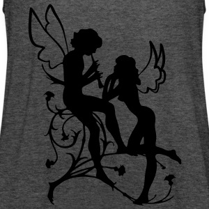 Angel, fairy, elf, magic, silhouette vector Hoodies & Sweatshirts - Women's Tank Top by Bella