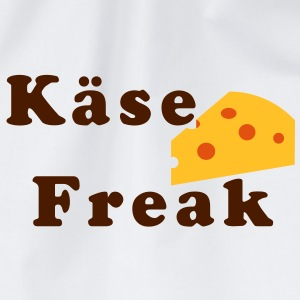 Käse Freak - Tasse, Griff links - Turnbeutel