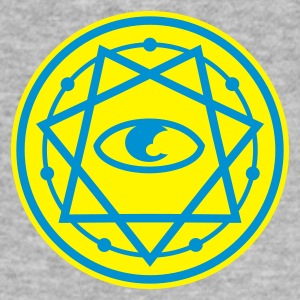 Grau meliert 777-Heptagram with Eye of Horus No.2_2c Pullover - Männer Slim Fit T-Shirt