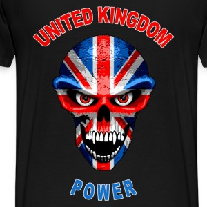 United Kingdom Skull Hoodies & Sweatshirts - Men's Premium T-Shirt